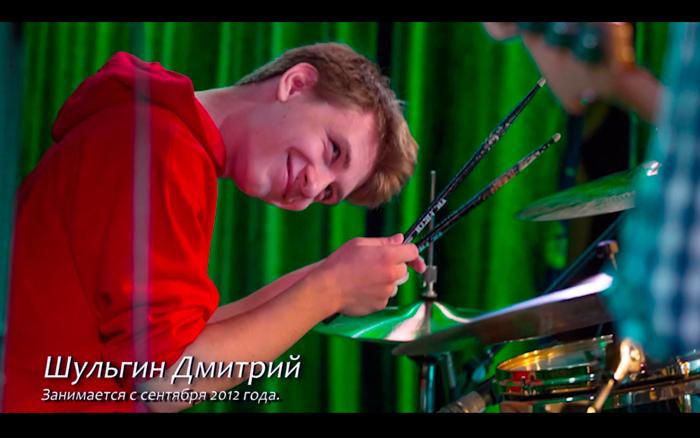 Шульгин Дмитрий - ученик по ударным школы Musical Wave